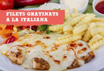 Filets gratinats a la italiana